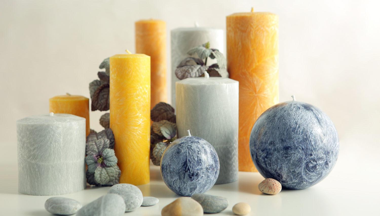 Декоративные свечи и их применение в интерьере помещения